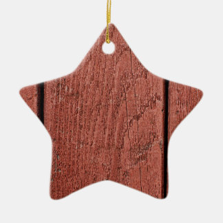 Red painted wood ceramic ornament