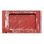 Red Painted Wooden Barn Door Double-Sided Standard Business Cards (Pack Of 100)