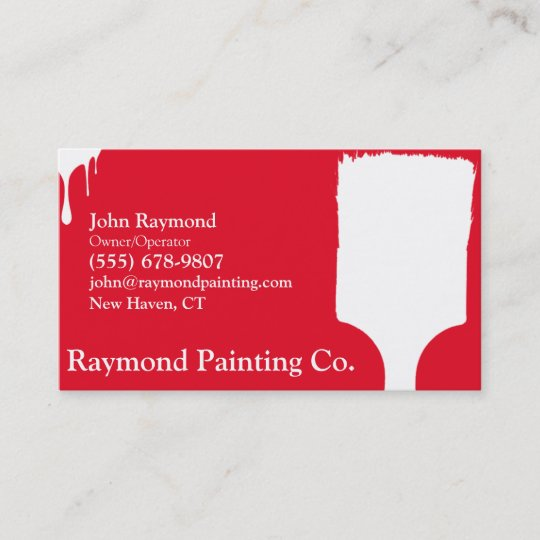 Red painter business cards zazzle red painter business cards colourmoves