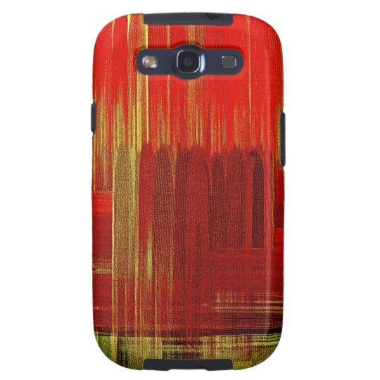 Red painting art - Sam Sung Galaxy Case