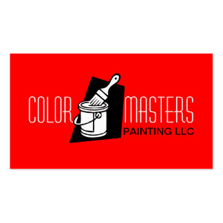 Red Painting Painter Construction Business Card