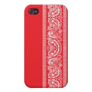Red Paisley Bandana iPhone 4 Case
