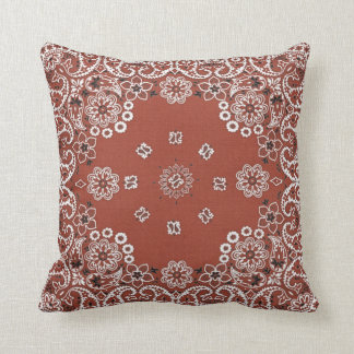 red paisley bandana throw pillow