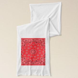 Red Paisley Bandanna Pattern Scarf