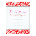 Red Paisley Bridal Shower Invitations Invitations
