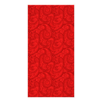 Red Paisley Card