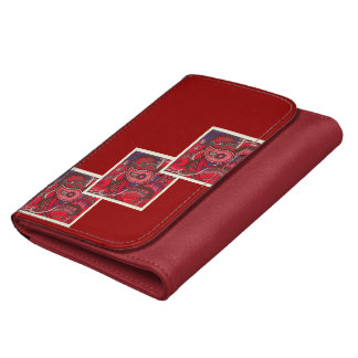 Red Paisley Designed Wallet