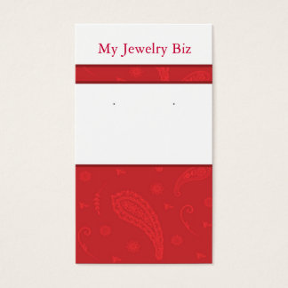 Red Paisley Earring Cards