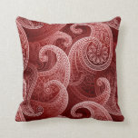 Red Paisley Exotic Pattern Pillow