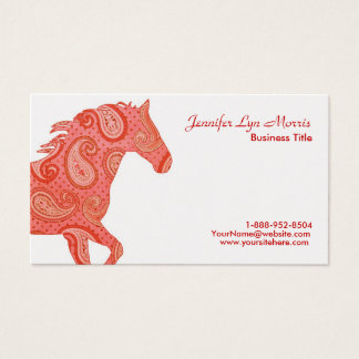 Red Paisley Horse Business Card