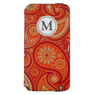 Red Paisley iPhone 6/6s Wallet Case