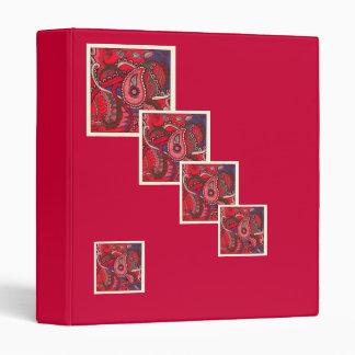 """Red Paisley Octopus"" Binder"
