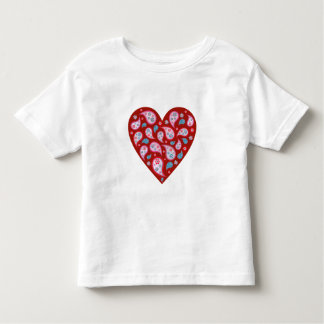 Red Paisley Pop Heart Baby Tee