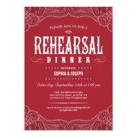 Rehearsal Dinner Invitations<