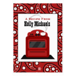 Red Paisley & Retro Stove Recipe Cards