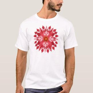 Red paisley sun mandala T-Shirt