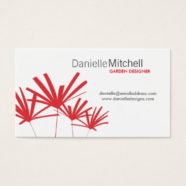 Professional Business RED PALMS Business Card
