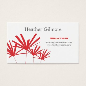 Professional Business RED PALMS No. 2 Business Card