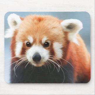 Red Pand Stare Mouse Pad