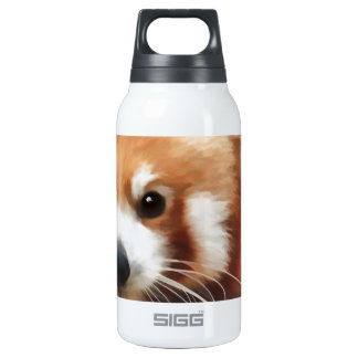 Red Pand Stare Thermos Water Bottle