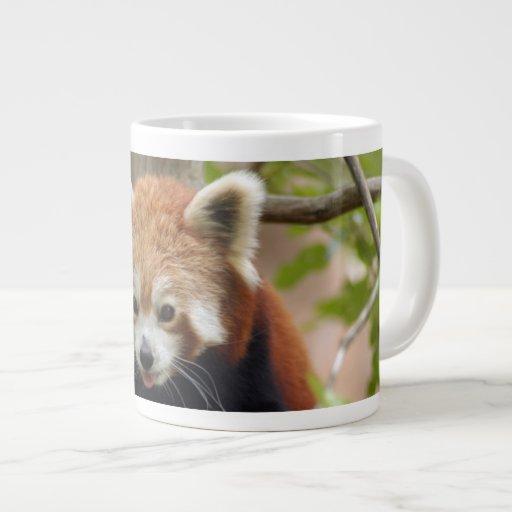 red-panda-024 20 oz large ceramic coffee mug
