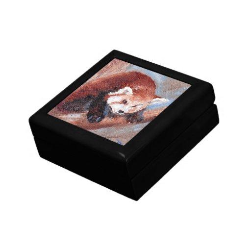 Red Panda aceo Keepsake Boxes