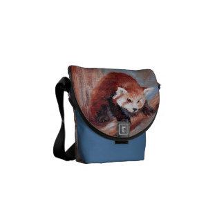 Red Panda aceo Mini Messenger Bag