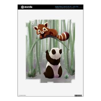 Red panda and panda bear cub iPad 3 skins