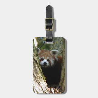 Red panda bag tag