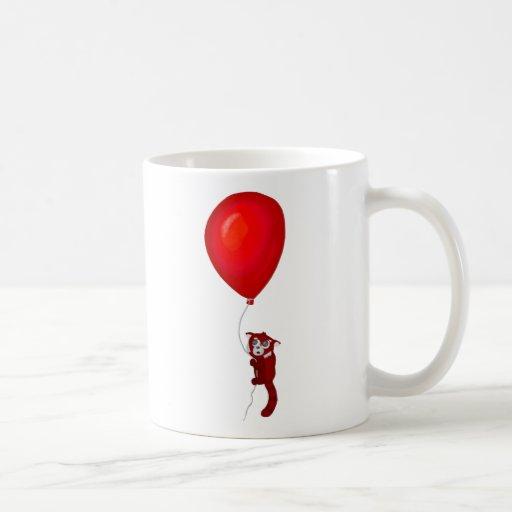 Red Panda Balloon Flight Classic White Coffee Mug