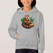 Red Panda Bear Sushi Lover Animal Hoodie