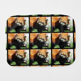Red Panda Bear Burp Cloth