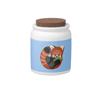 Red Panda Candy Jar