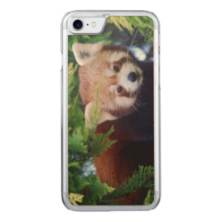 Red Panda Carved iPhone 7 Case