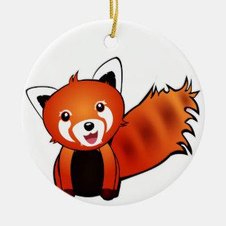 Red panda ceramic ornament