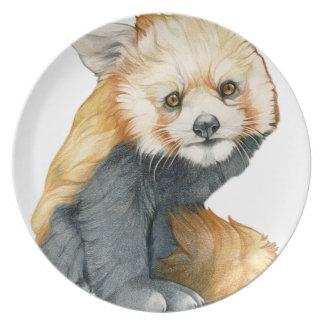Red Panda Cub Melamine Plate