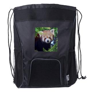 Red Panda Drawstring Backpack