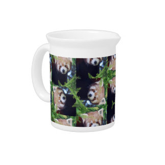 Red Panda Drink Pitcher