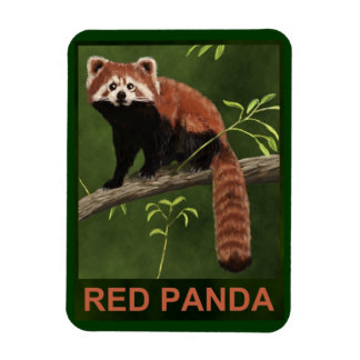 Red Panda Flexible Magnet