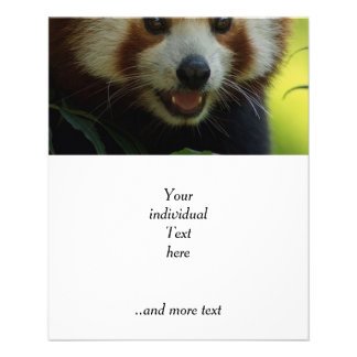 red panda personalized flyer
