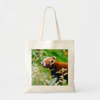 Red Panda In A Green Environment Tote Bag