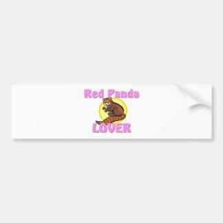 Red Panda Lover Car Bumper Sticker