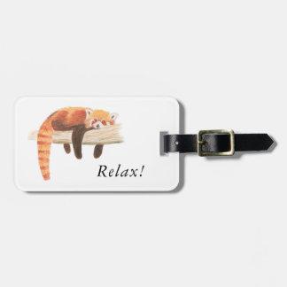 Red Panda Luggage Label