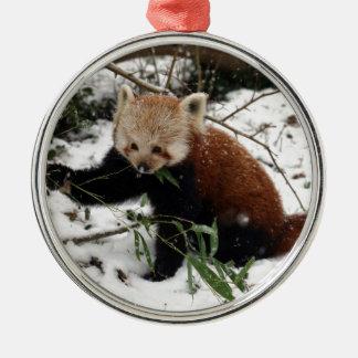 Red Panda Metal Ornament