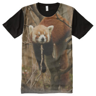 Red Panda Naptime All-Over-Print Shirt