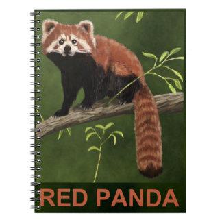 Red Panda Spiral Note Books