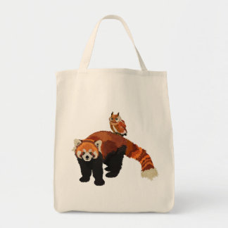 Red Panda & Owl Bag