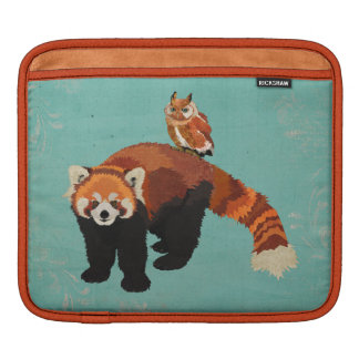 Red Panda & Owl iPad Sleeve