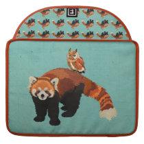 Red Panda & Owl Macbook Sleeve