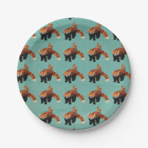 Red Panda & Owl Paper Plates